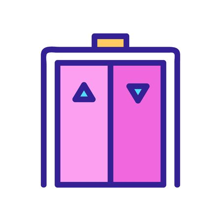 elevator icon vector. A thin line sign. Isolated contour symbol illustration Ilustrace