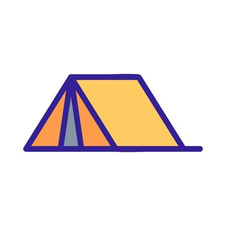 Tourist tent icon vector. A thin line sign. Isolated contour symbol illustration Ilustração