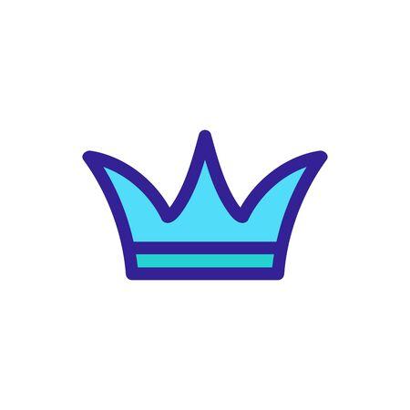 princely crown icon vector. A thin line sign. Isolated contour symbol illustration Illusztráció