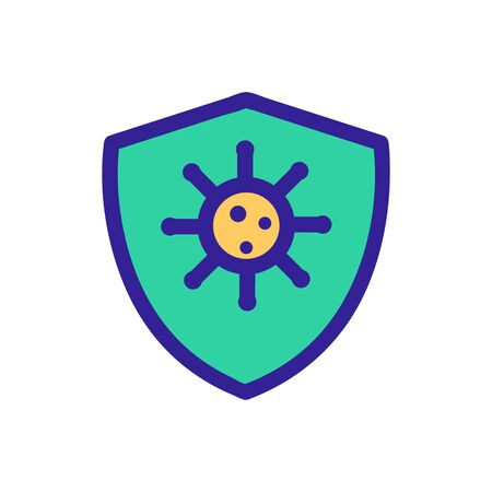 Protection from bacteria icon vector. A thin line sign. Isolated contour symbol illustration