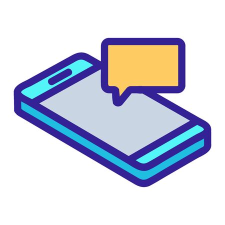 Incoming message icon vector. A thin line sign. Isolated contour symbol illustration