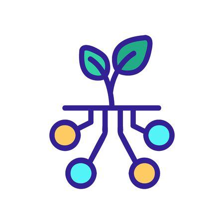 Smart farm icon vector. A thin line sign. Isolated contour symbol illustration 向量圖像