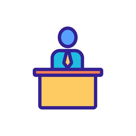 Workplace icon vector. A thin line sign. Isolated contour symbol illustration Illustration