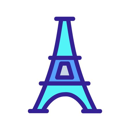 Paris icon vector. A thin line sign. Isolated contour symbol illustration