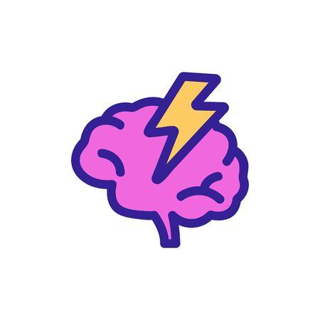 Headache icon vector. A thin line sign. Isolated contour symbol illustration Stock Illustratie