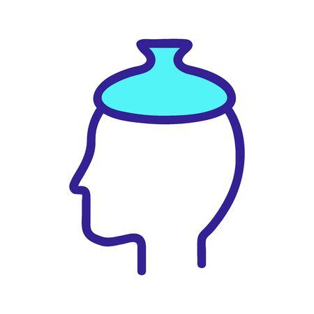 Headache icon vector. A thin line sign. Isolated contour symbol illustration
