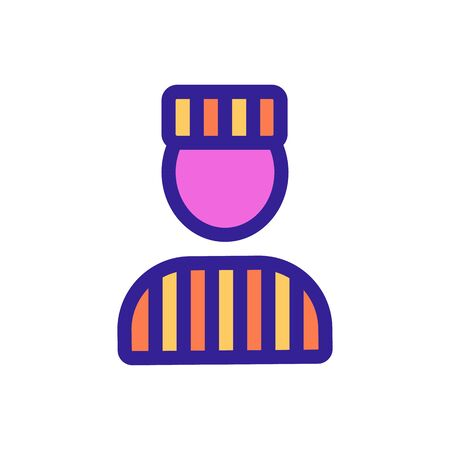 prison form icon vector. A thin line sign. Isolated contour symbol illustration