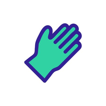 Rubber glove icon vector. A thin line sign. Isolated contour symbol illustration
