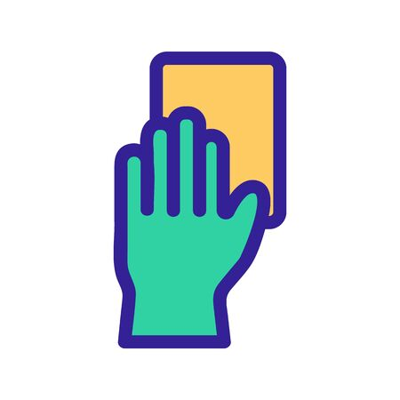 gloves for cleaning the vector icon. A thin line sign. Isolated contour symbol illustration Vettoriali