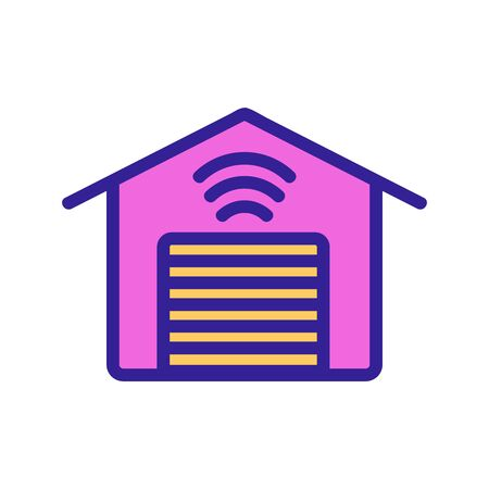 Smart house icon vector. A thin line sign. Isolated contour symbol illustration 일러스트