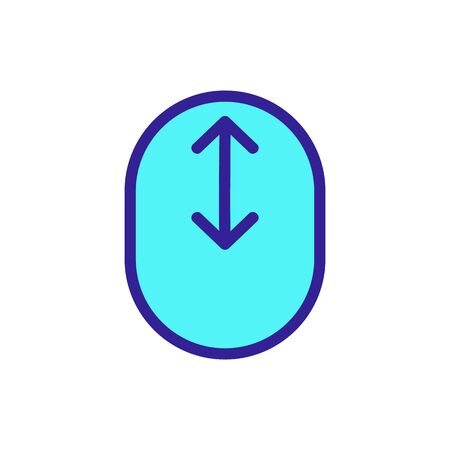 Scroll the screen icon vector. A thin line sign. Isolated contour symbol illustration
