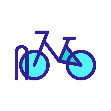 Parking for the bike icon vector. A thin line sign. Isolated contour symbol illustration