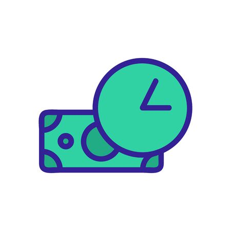 cashback icon vector. A thin line sign. Isolated contour symbol illustration 일러스트