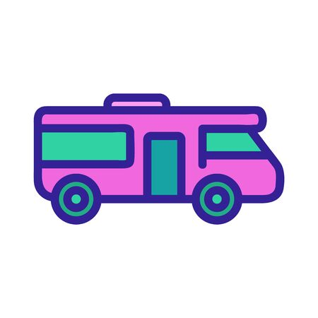 House on Wheels icon vector. A thin line sign. Isolated contour symbol illustration