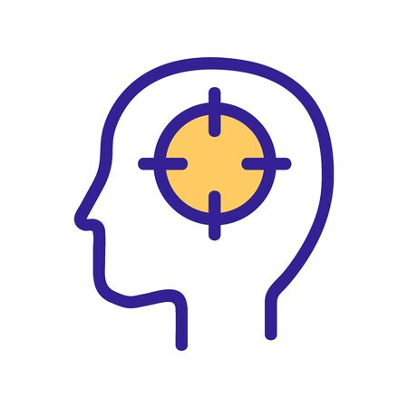 analytical mindset icon vector. A thin line sign. Isolated contour symbol illustration