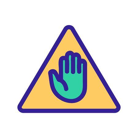 Il passaggio è vietato vettore icona. Un segno di linea sottile. Illustrazione del simbolo di contorno isolato