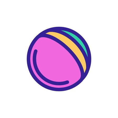 Ball for the game icon vector. A thin line sign. Isolated contour symbol illustration Banque d'images - 139449919