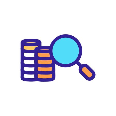 Finding money icon vector. A thin line sign. Isolated contour symbol illustration 일러스트