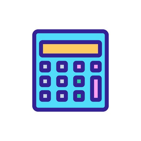 Calculator icon vector. A thin line sign. Isolated contour symbol illustration