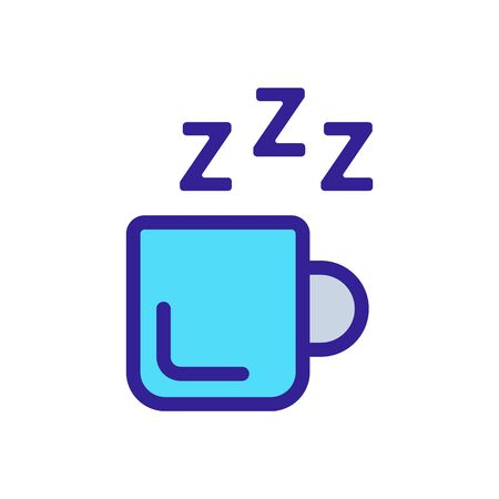mug tea icon vector. A thin line sign. Isolated contour symbol illustration