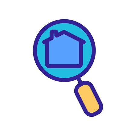 Search for real estate icon vector. A thin line sign. Isolated contour symbol illustration