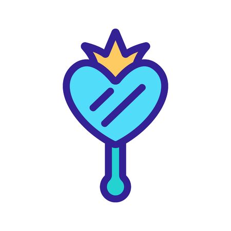 Mirror princess icon vector. A thin line sign. Isolated contour symbol illustration