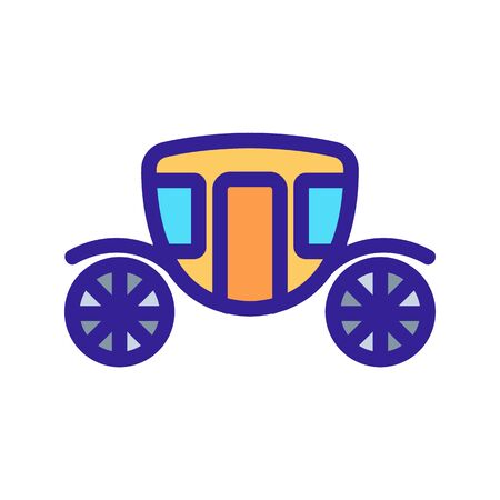 The princess carriage is a vector icon. A thin line sign. Isolated contour symbol illustration