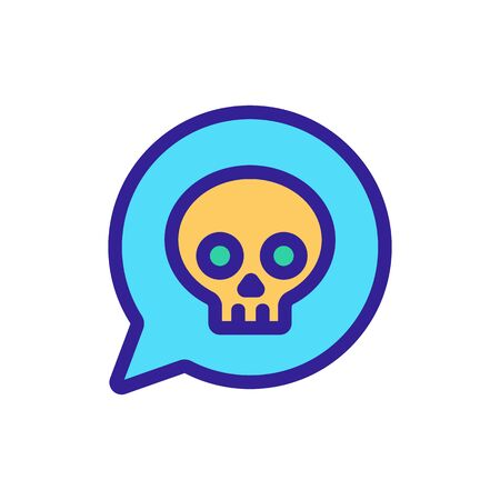 Alert poisoning icon vector. A thin line sign. Isolated contour symbol illustration