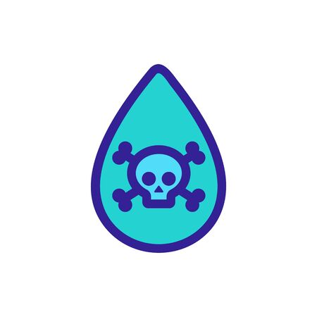 poisoned water icon vector. A thin line sign. Isolated contour symbol illustration Ilustracja