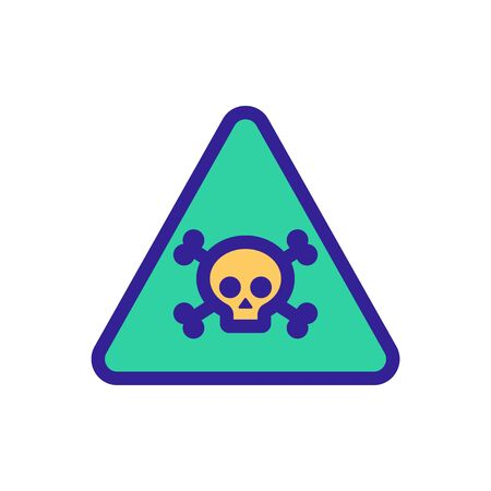 Gently poison the vector icon. A thin line sign. Isolated contour symbol illustration