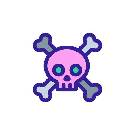 poisonous substances icon vector. A thin line sign. Isolated contour symbol illustration