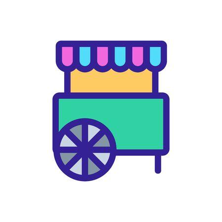 Circus cart icon vector. A thin line sign. Isolated contour symbol illustration Illusztráció