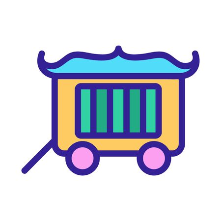 Circus wagon icon vector. A thin line sign. Isolated contour symbol illustration 일러스트