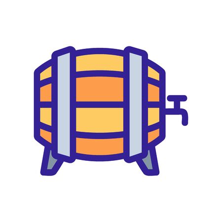 barrel of beer icon vector. A thin line sign. Isolated contour symbol illustration