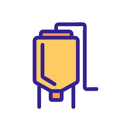 barrel with beer icon vector. A thin line sign. Isolated contour symbol illustration