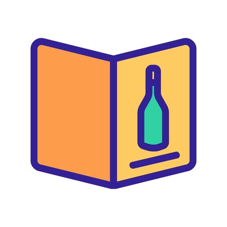 Wine list icon vector. A thin line sign. Isolated contour symbol illustration
