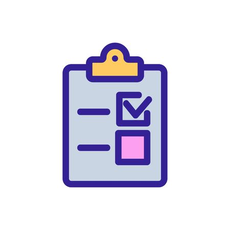 Das Ausfüllen des Fragebogens ist das Vektorsymbol. Ein dünnes Linienzeichen. Isolierte Kontursymbolillustration Vektorgrafik