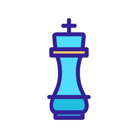 Chess icon vector. A thin line sign. Isolated contour symbol illustration