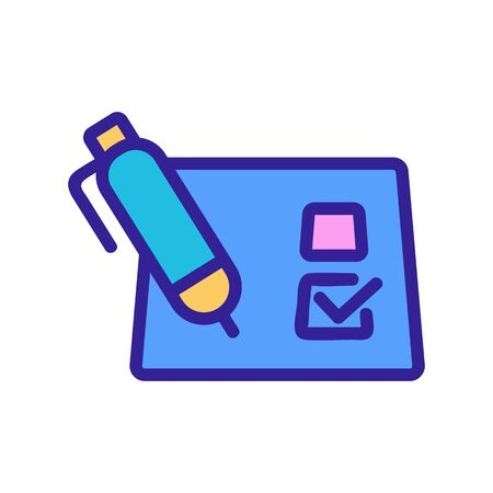filling out the questionnaire icon vector. A thin line sign. Isolated contour symbol illustration Vektorgrafik