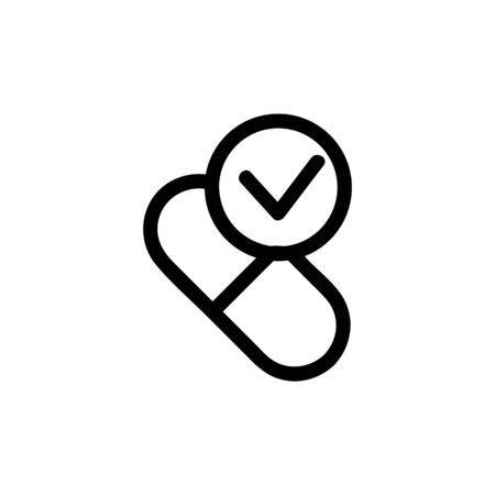 Time to take the medicine icon vector. Thin line sign. Isolated contour symbol illustration Stockfoto - 139479831