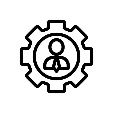 Manager icon vector. Thin line sign. Isolated contour symbol illustration