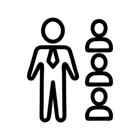 Manager management icon vector. Thin line sign. Isolated contour symbol illustration