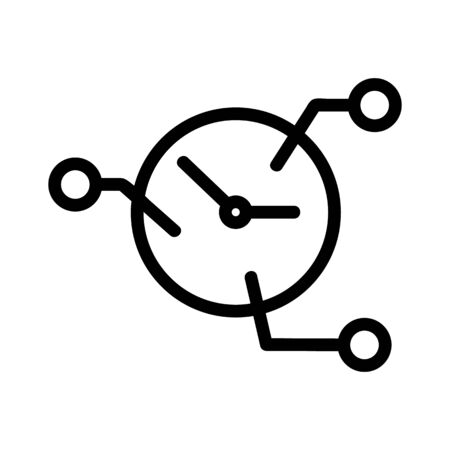 Planning being an icon vector. Thin line sign. Isolated contour symbol illustration  イラスト・ベクター素材