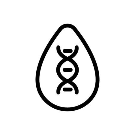 Dna study icon vector. Thin line sign. Isolated contour symbol illustration