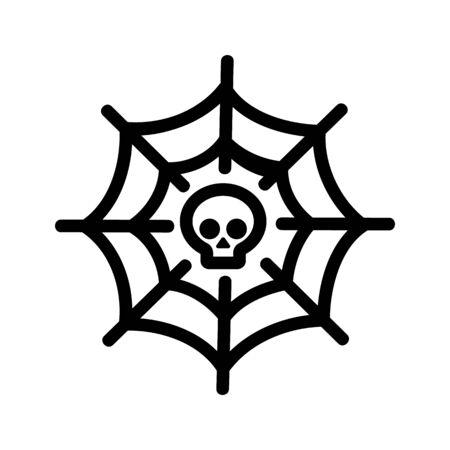Internet web death icon vector. Thin line sign. Isolated contour symbol illustration