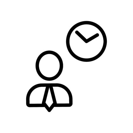 businessman being an icon vector. Thin line sign. Isolated contour symbol illustration