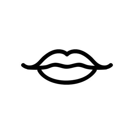 lip icon vector. Thin line sign. Isolated contour symbol illustration