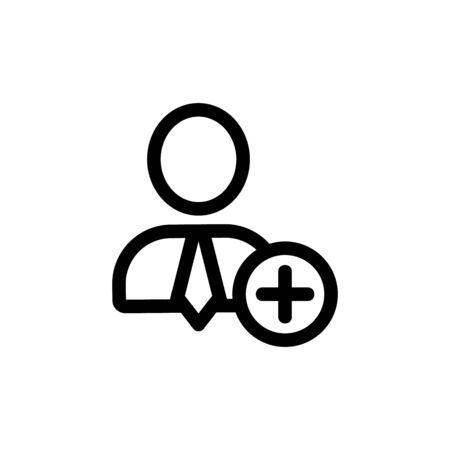 New employee vector icon. Thin line sign. Isolated contour symbol illustration Ilustrace