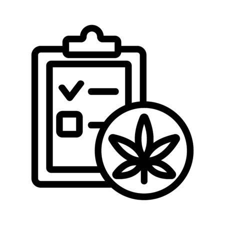 Drug test icon vector. Thin line sign. Isolated contour symbol illustration Ilustrace