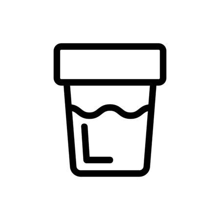 urine icon vector analysis. Thin line sign. Isolated contour symbol illustration